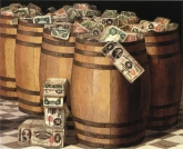 Victor_Dubreuil_-_Barrels_on_Money_c._1897_oil_on_canvas