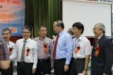 từ phải sang trái: Trần Văn Nhung, Lê Tuấn Hoa, CT UBTW MTTQVN Nguyễn Thiện Nhân, Hoàng Lê Minh, Ngô Bảo Châu
